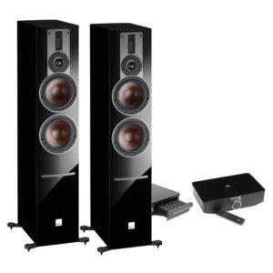 Dali Rubicon 6 C black high gloss + Sound Hub + BluOS