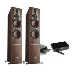 Dali Rubicon 6 C walnut + Sound Hub + BluOS