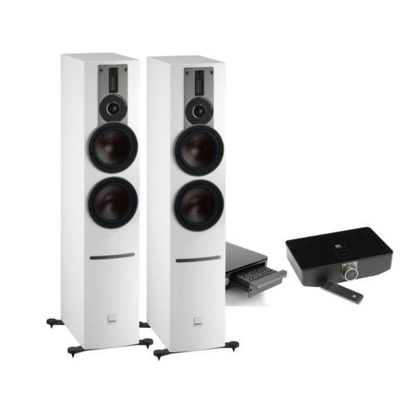 Dali Rubicon 6 C white high gloss + Sound Hub + BluOS